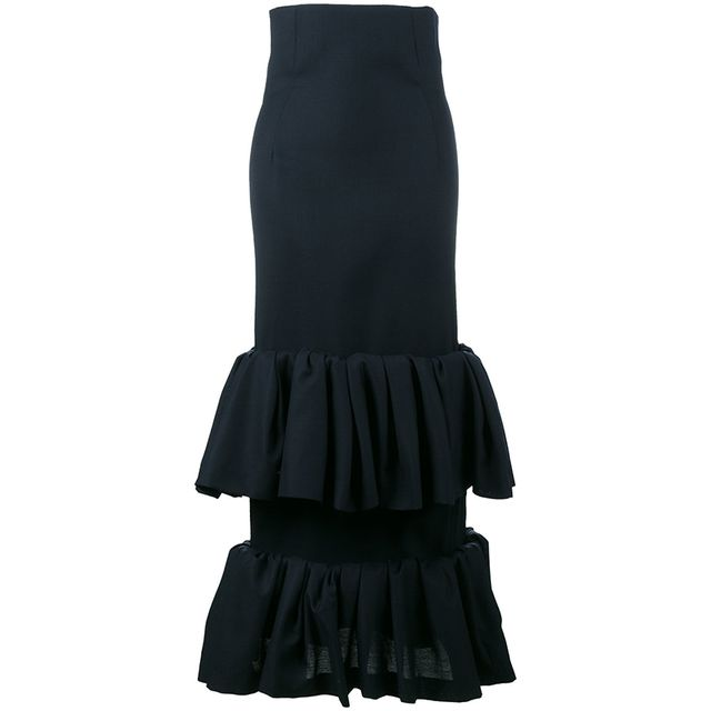 Jacquemus La Jupe Fronce Frilled Skirt