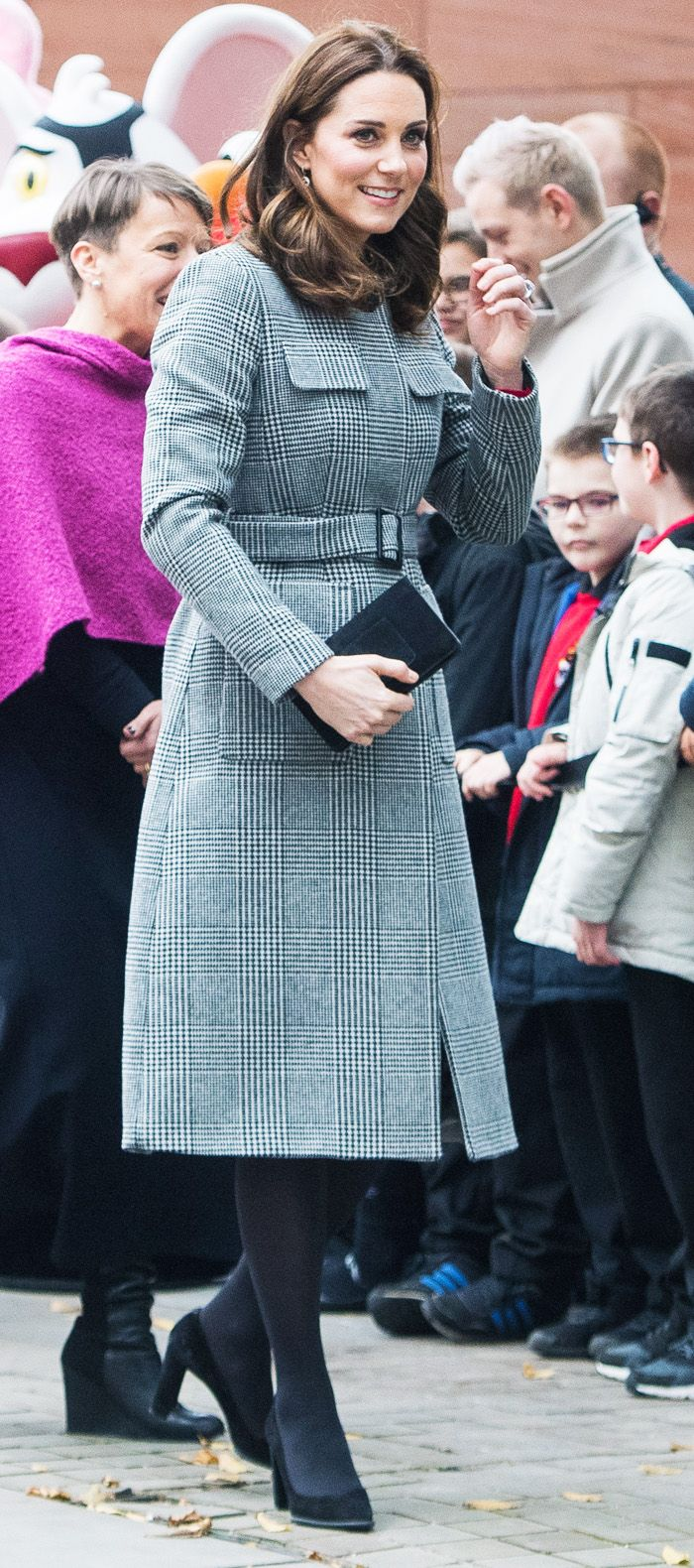 Duchess of Cambridge LK Bennett Check coat: