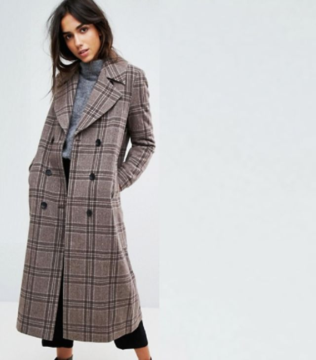 ASOS Selected Heritage Check Trench Coat