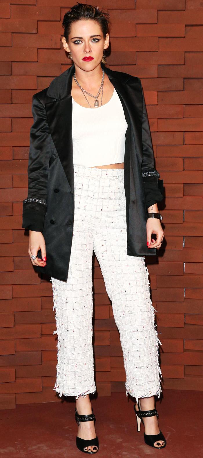 Kristen Stewart white T-Shirt: