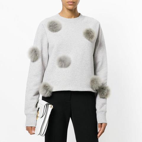 Cropped Pom Pom Sweatshirt