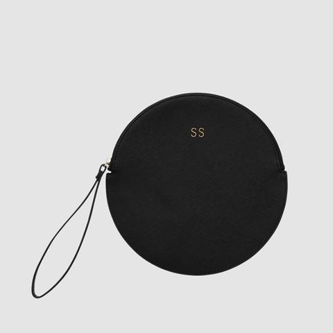 Black Circle Pouch