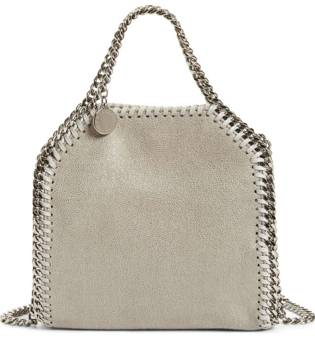 Stella Mccartney 'Tiny Falabella' Faux Leather Crossbody Bag - Grey