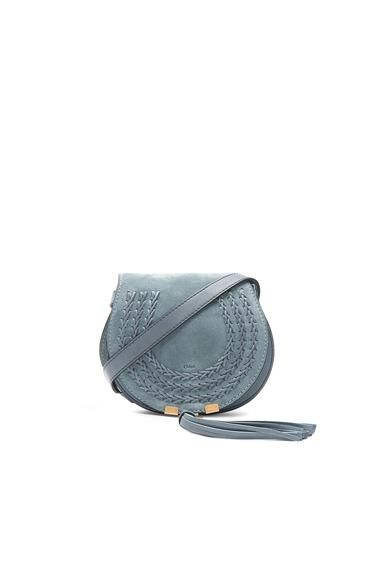 Small Marcie Suede Saddle Bag