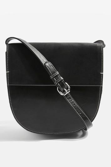 CHARLIE Leather Saddle Bag