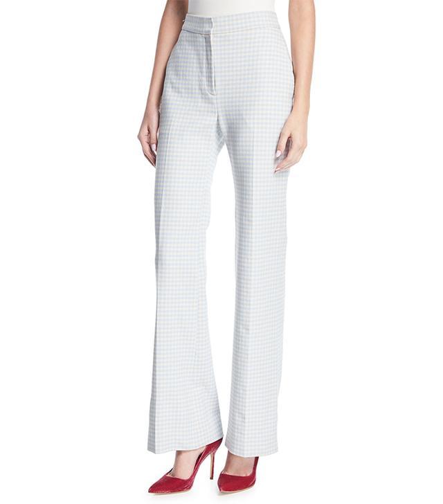 Brock Collection Pamela Gingham Wide-Leg Suiting Pants