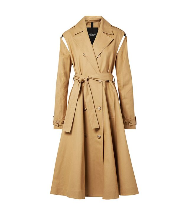 Convertible Double-breasted Cotton-twill Trench Coat