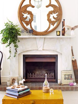 9 Stone Fireplaces That We Want to Cozy Up Next to Right Now