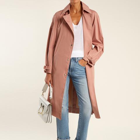 Weston Tie-Waist Cotton-Blend Trench Coat