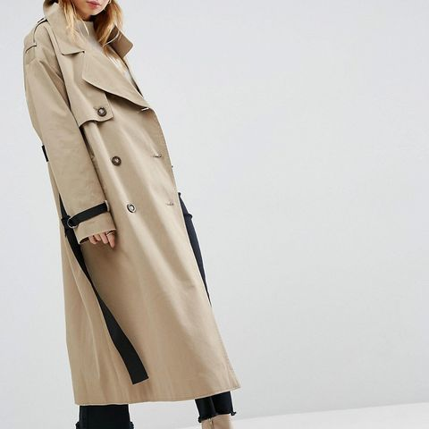Trench With Contrast Belt