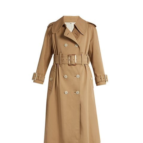 Belted Cotton Double-Breasted Trench Coat