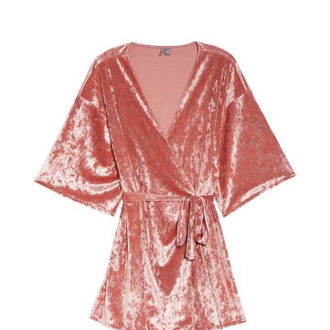 Crushed Velvet Robe
