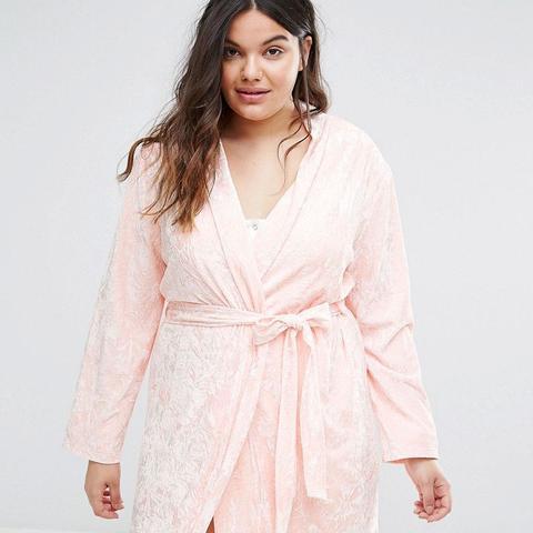 Crushed Velvet Mini Robe