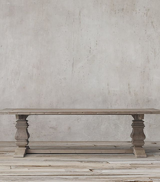Restoration Hardware Salvaged Wood Trestle Rectangular Extension Table