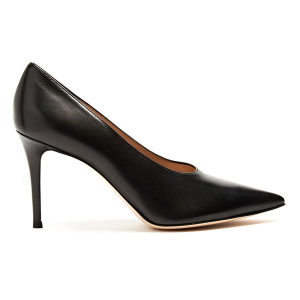 Gianvito Rossi Muriel high-cut point-toe leather pumps