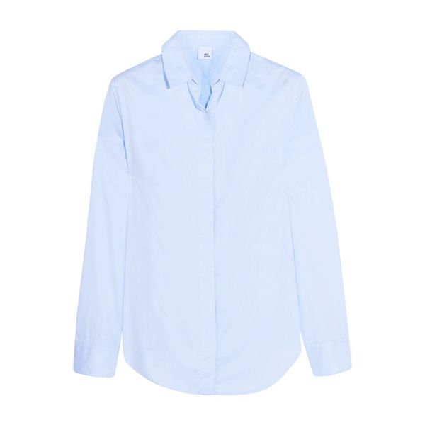 Iris and Ink Thea Cotton-Poplin Shirt