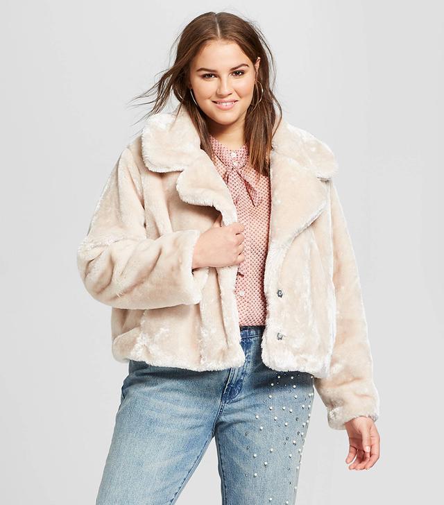 Who What Wear Faux Fur Coat