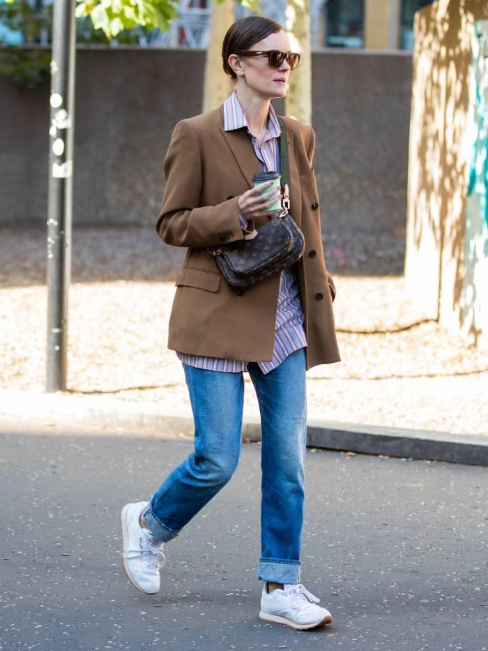 Reebok Classics: jo ellison wearing reeboks during london fashion week