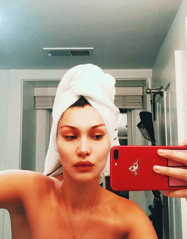 Instagram towel pose