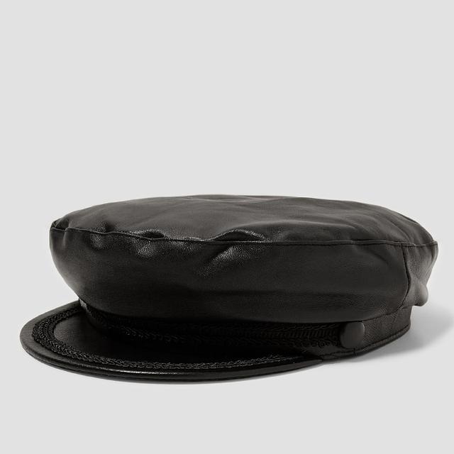 LEATHER NAUTICAL CAP