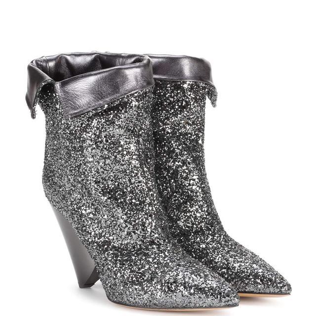 Luliana glitter ankle boots