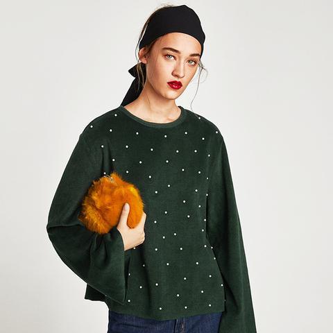 Sweatshirt With Pearls