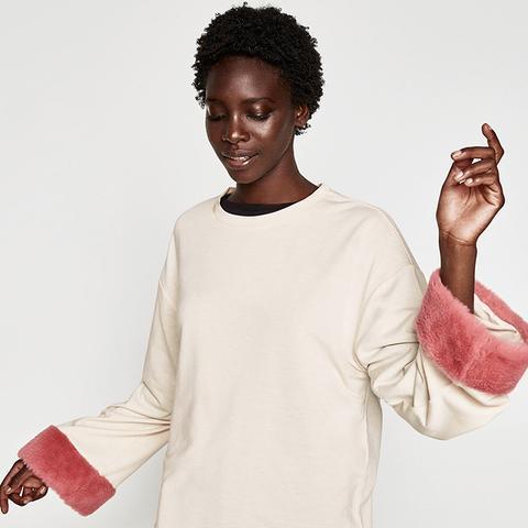 Sweatshirt With Sleeve Appliqués