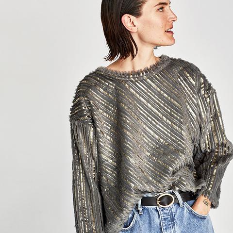 Contrasting Metallic Sweatshirt