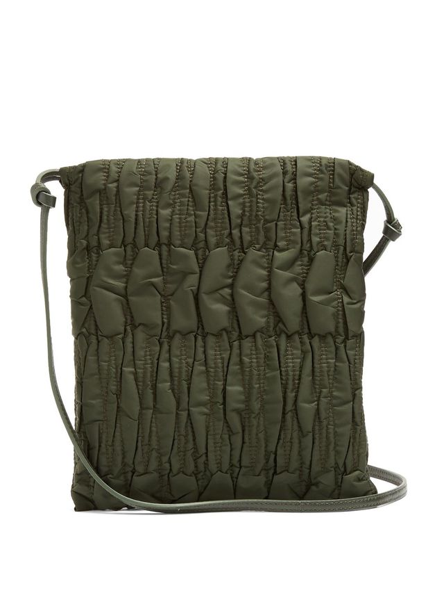 Medicine large quilted-nylon cross-body bag