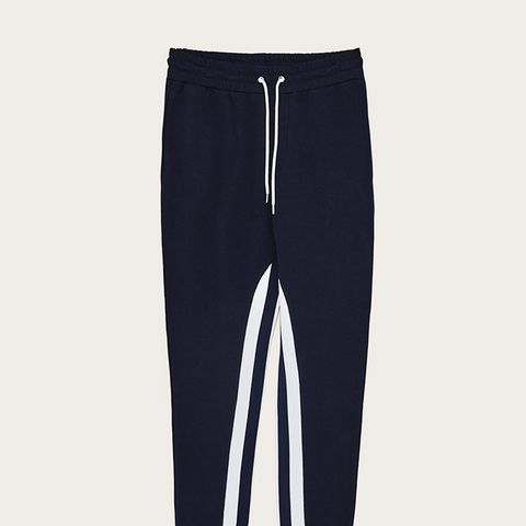 Ribbed Joggers With Slogan