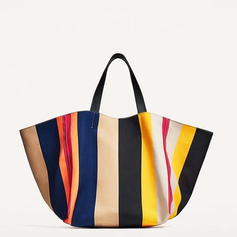 Multicolored Studio Tote Bag