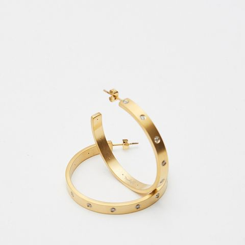 Gemma Diamond Hoops