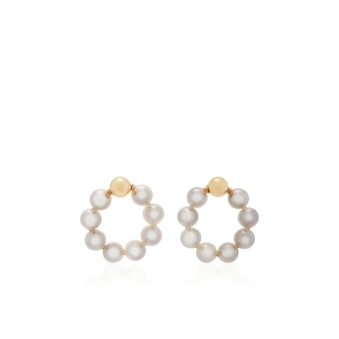 OG Large Gold-Filled Pearl Earrings
