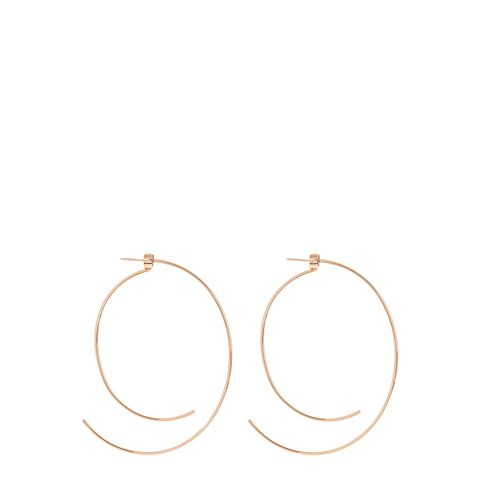 Rose-Gold Curved Hoop Earrings