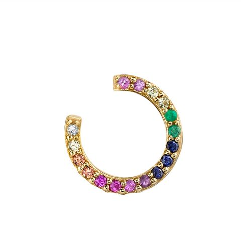 Rainbow Open Hoop Earring
