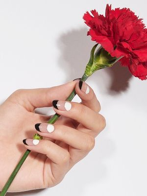 The Coolest Black-and-White Nail Designs, According to Instagram