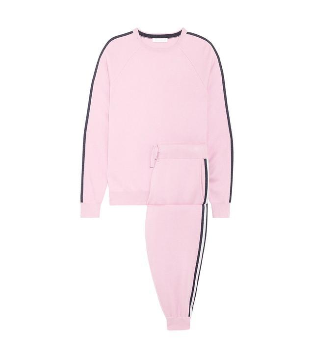 Malibu Silk-blend Sweatshirt And Track Pants Set