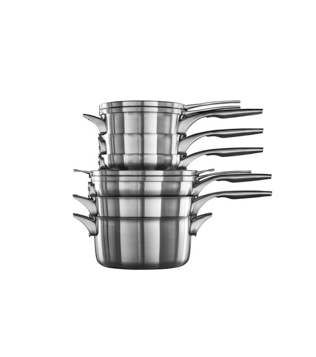 Calaphon Space Saving Stainless Steel 10-Piece Cookware Set