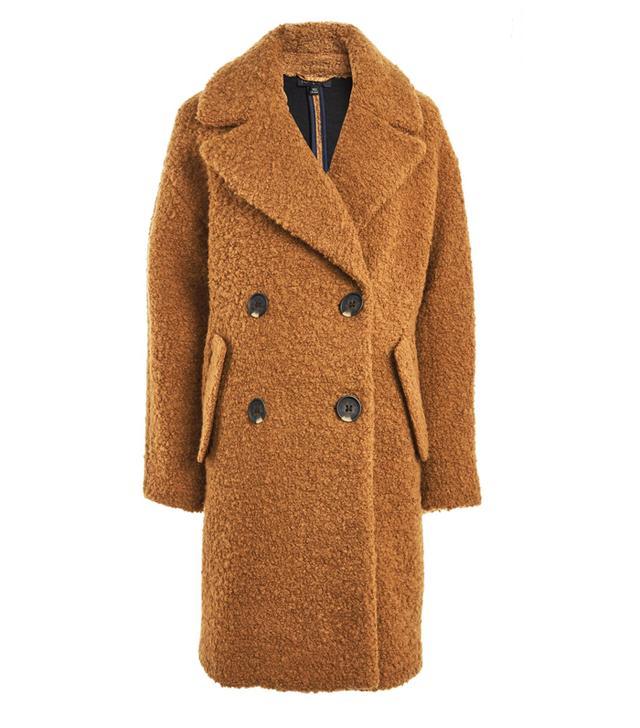 Topshop Boucle Slouch Coat