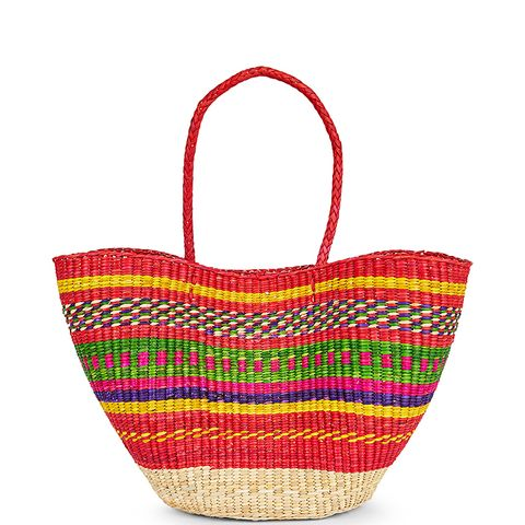 Multi Straw Tote Bag