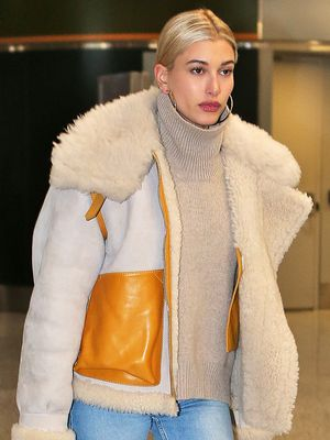 Hailey Baldwin Wore the Season's Most Beautiful Boots to the Airport