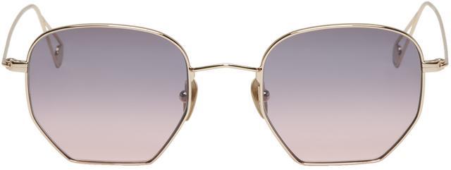 Garrett Leight Gold Mark McNairy Edition Liberty Sunglasses