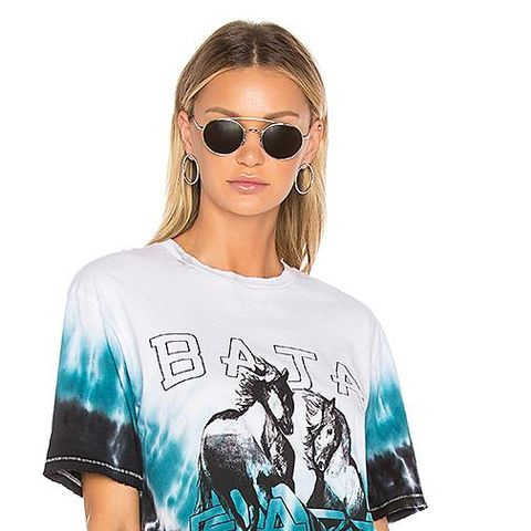 Two Horses Graphic T-Shirt in Blue