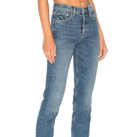 Natalia High-Rise Skinny Split Jeans