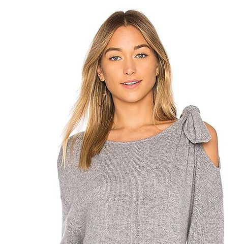 Tie Detail Sweater in Gray