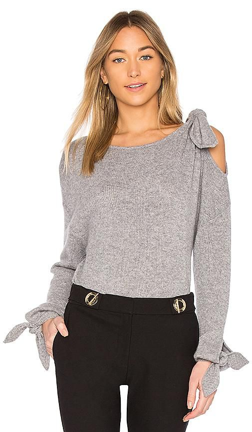 Tie Detail Sweater in Gray. - size M (also in S)