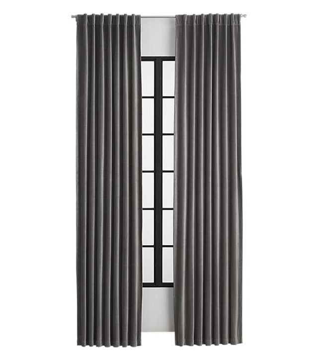 CB2 Velvet Graphite Curtain Panel