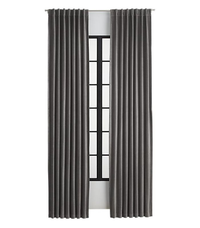 Velvet Graphite Curtain Panel by CB2