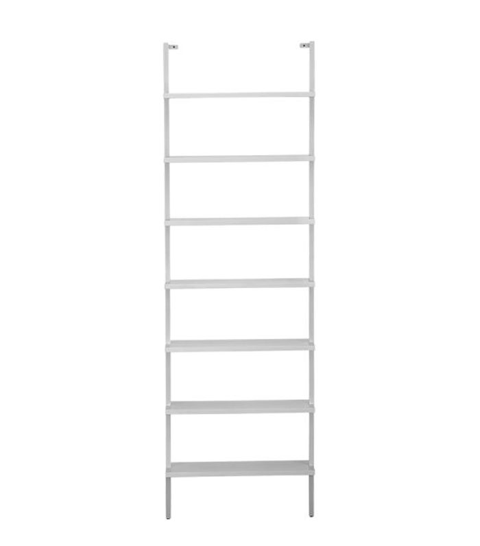 Stairway White Wall Mounted Bookcase by CB2