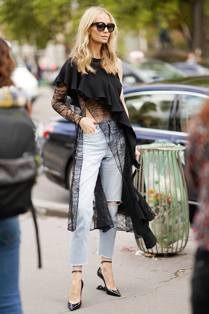 The Coolest Ways To Wear Jeans With Heels In 2018 Who
